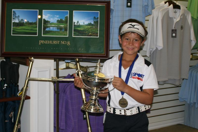 Karl with his 2011 US Kids World trophy