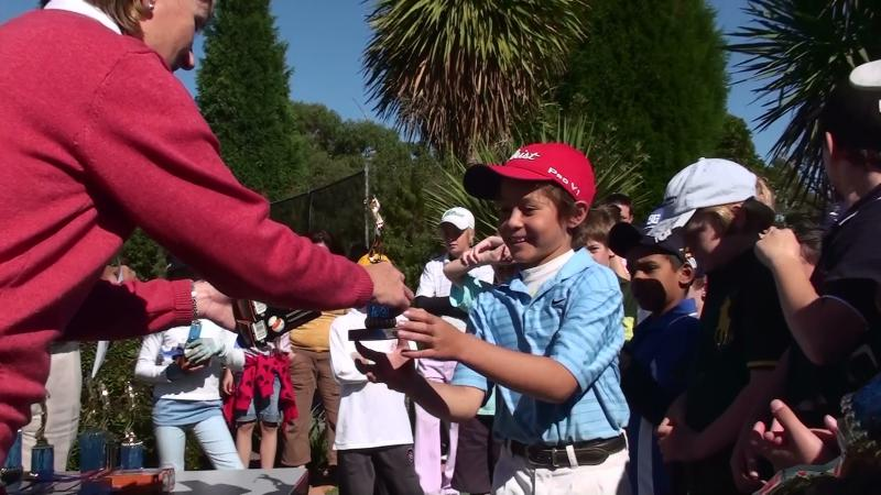 Karl winning Under 10 Division of Victorian Pitch'n'Putt Championships, April 20