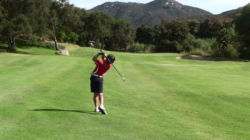 Welk practise round 6th July 2011 2nd shot 12th hole follow thru