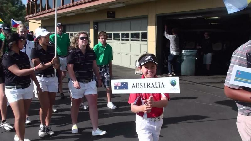 Karl at the 2011 Callaway Junior Worlds Opening Parade