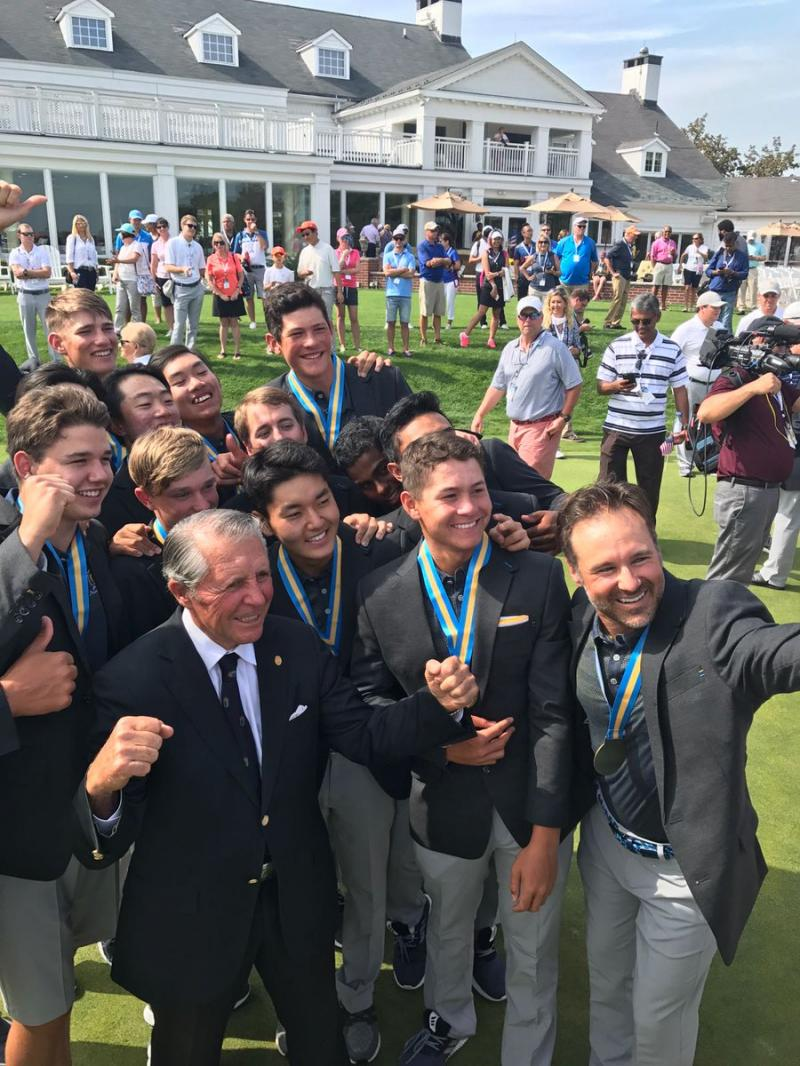 Karl with Gary Player and his Team at the Junior Presidents Cup