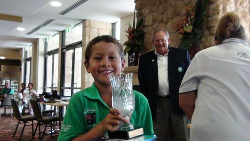 Karl with 2010 Harvey Norman Week of Golf Overall Nett trophy