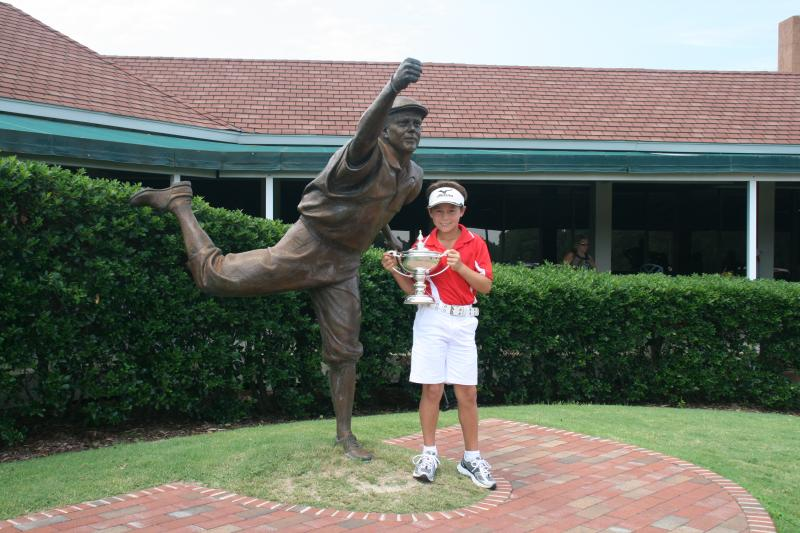 Karl with Payne Stewart in 2011