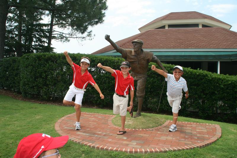 Karl, Colin & friend with Payne Stewart
