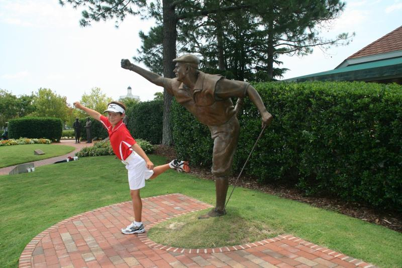 Karl with Payne Stewart