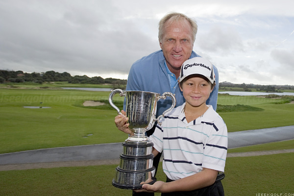 Greg Norman & Karl, June 3, 2010