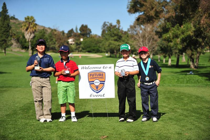 Karl with 2010 Callaway FCG 2nd Place Trophy, plus Alex, Andrew & Brett