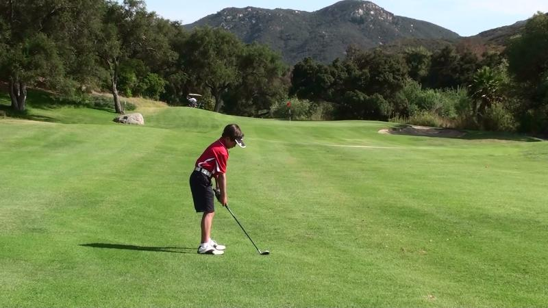 Welk practise round 6th July 2011 2nd shot 12th hole address